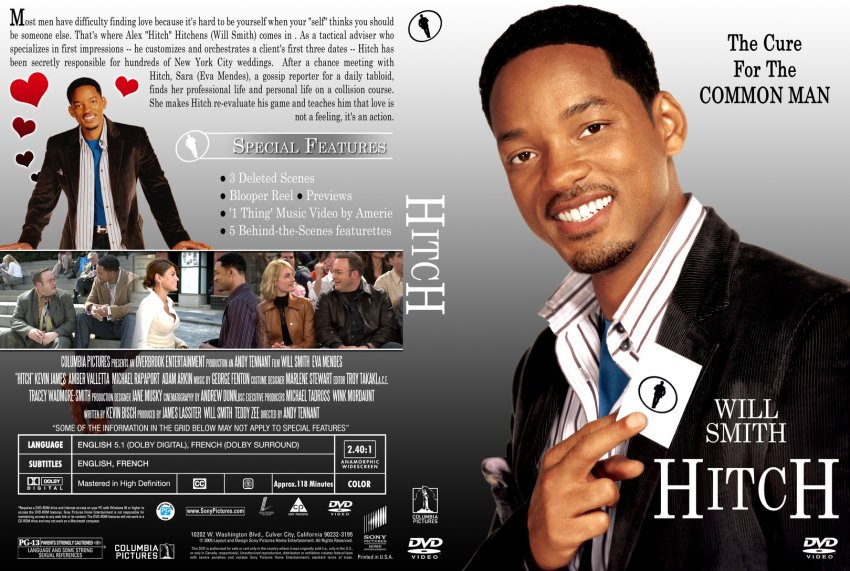 hitch movie In hitch, alex hitch hitchens (will smith) is a legendary -- and deliberately  anonymous -- new york city date doctor who, for a fee, has helped countless  men.