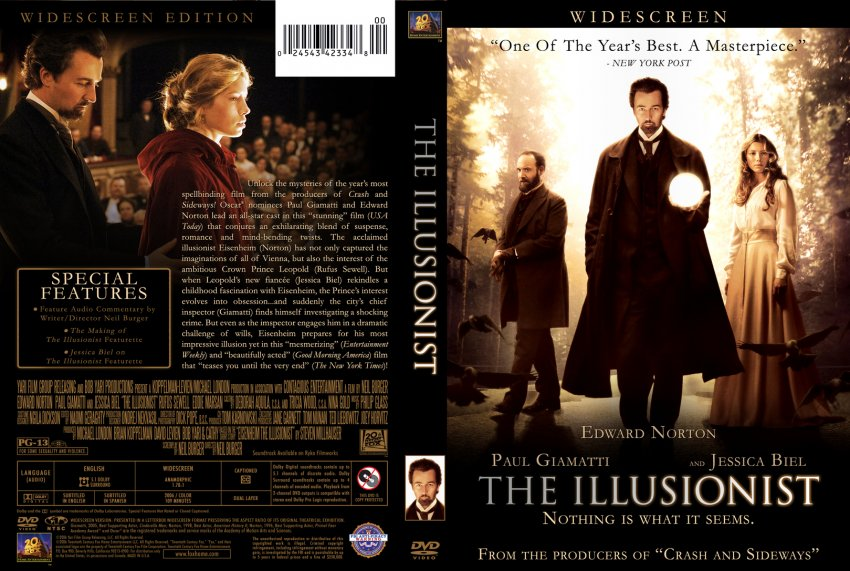 The Illusionist - Movie DVD Custom Covers - 595the ...