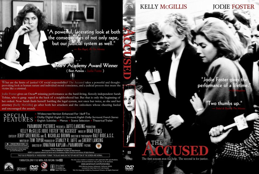 the accused movie dvd custom covers the accused cstm dd  the accused