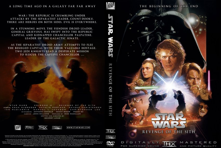 StarWars - Episode 3 - Revenge of the Sith - Movie DVD ...