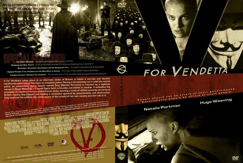 V For Vendetta Movie Cover V For Vendetta - Movie...