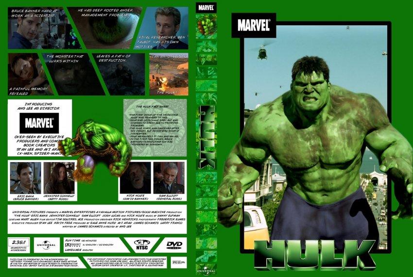 Hulk - Movie DVD Custom Covers - 654HULK-COMICBOOK STYLE ...