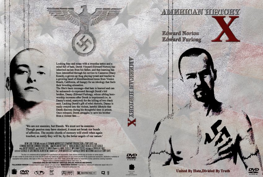 an essay on american history x American history x essay sample american history x is a film that shows the modern struggle between blacks and whites in america the film's focal character is derek vinyard.