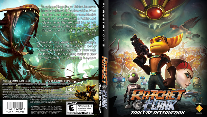 Ratchet Clank Tools Of Destruction Playstation Game Covers