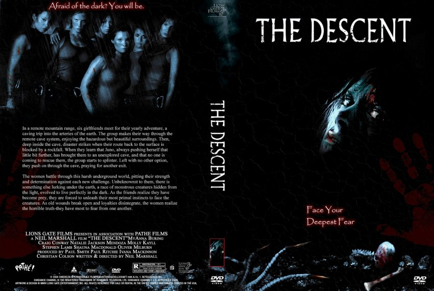 the descent movie dvd custom covers 753the descent cc