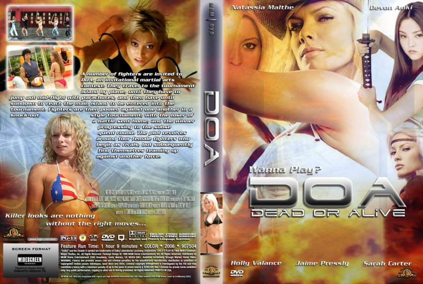 Doa Dead Or Alive Movie Dvd Custom Covers 7751doa Dead Or