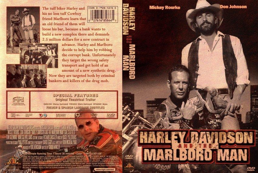 Harley Davidson And The Marlboro Man Movie Dvd Custom Covers