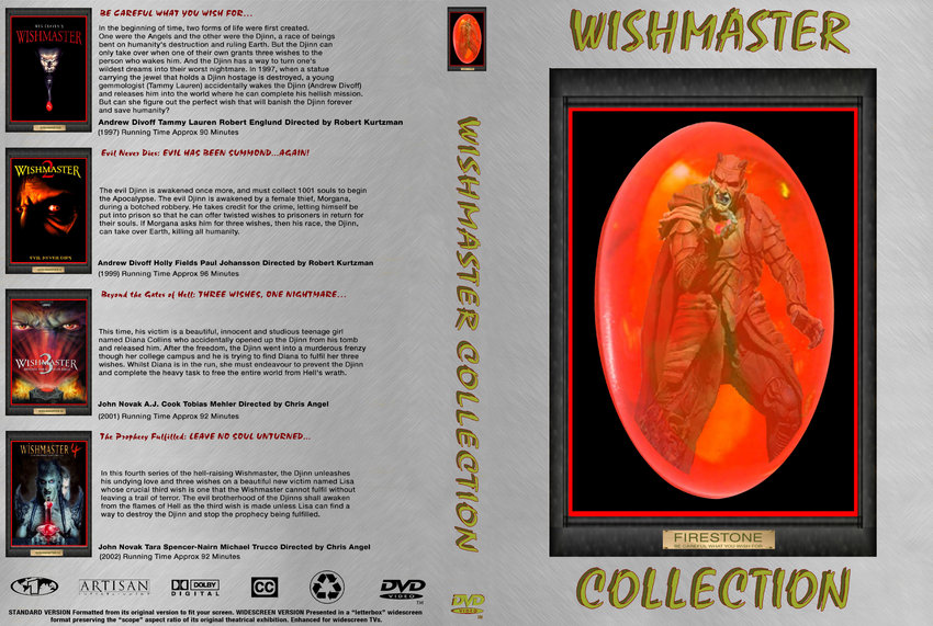 Wishmaster DVD Collection Cover