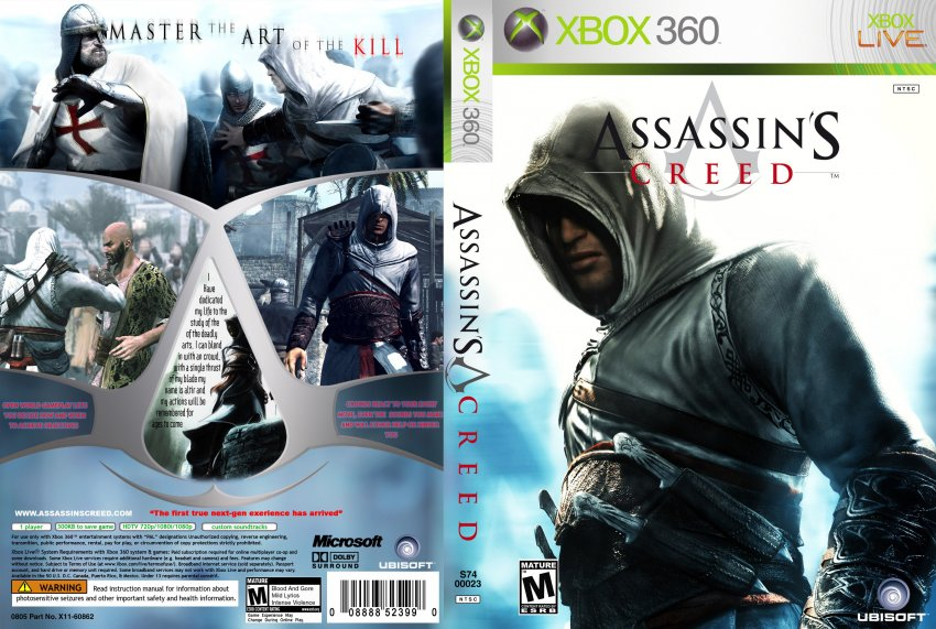 assassins creed xbox 360 game covers assassin s
