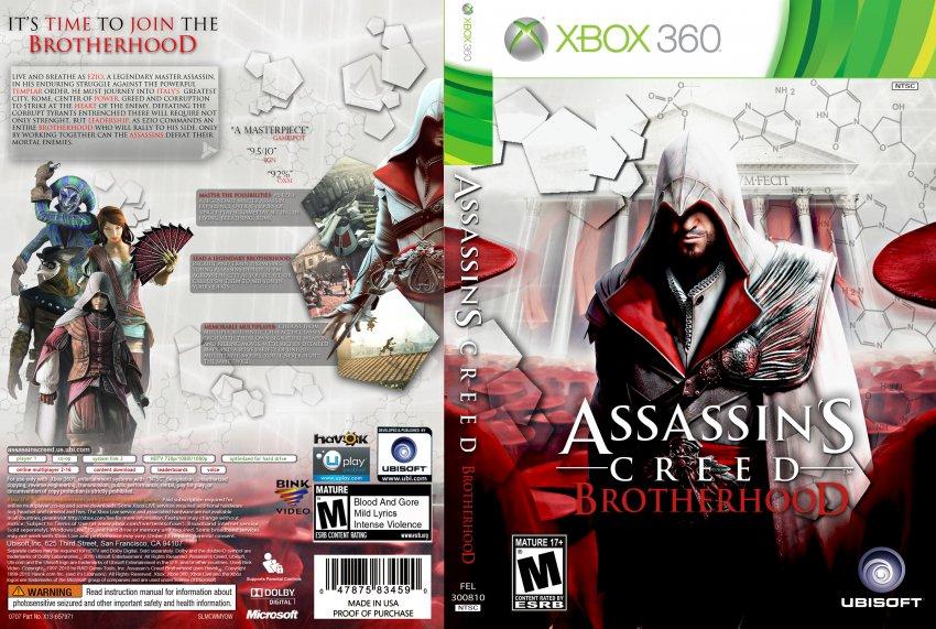 Assassins Creed Brotherhood Xbox 360 Game Covers Assassins