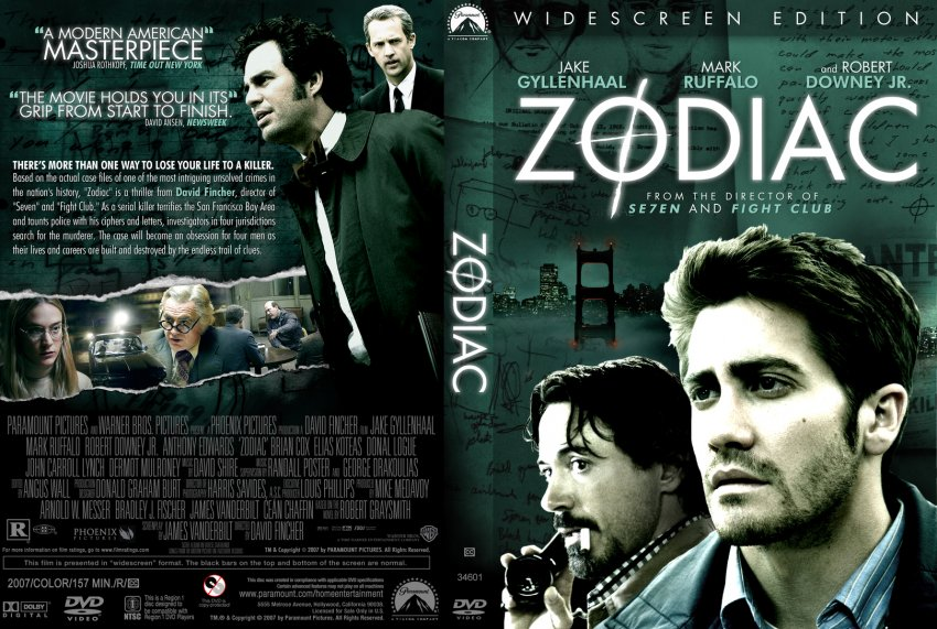 Zodiac Movie Robert Downey Jr Zodiac - Movie DVD Cus...