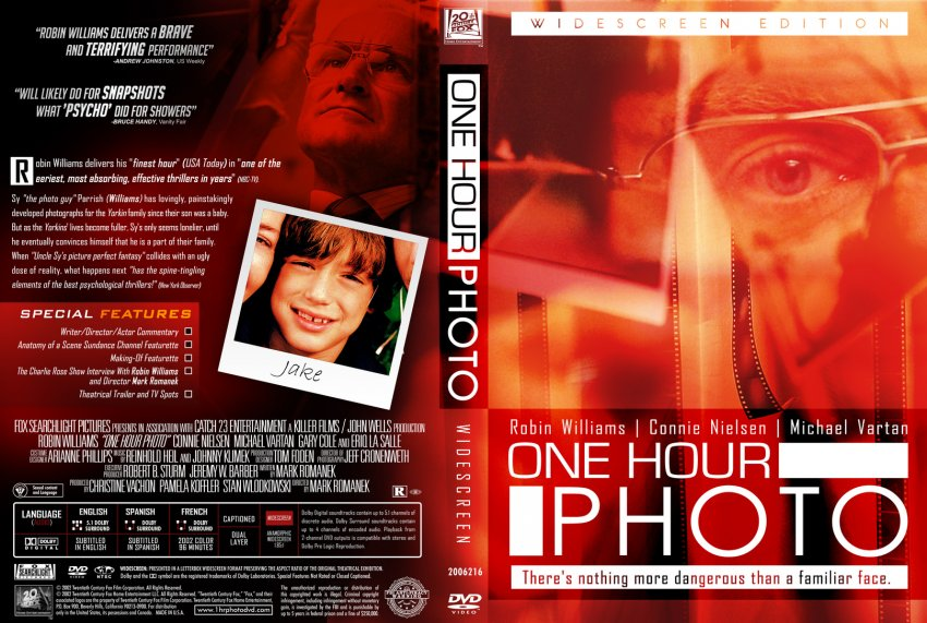 a review of the movie one hour photo In 2002, williams broke out of his niche genre and starred in the truly-creepy one  hour photo interestingly, this seemed to be the year for the.