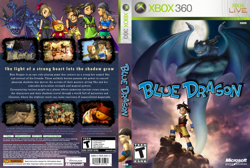 Clássico do Xbox 360, Blue Dragon será retrocompatível com o Xbox One Blue_Dragon_XBOX360-UT1