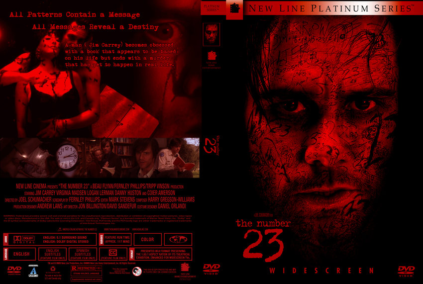 The Number 23 - Movie DVD Custom Covers - 8609The Number 23 :: DVD ...