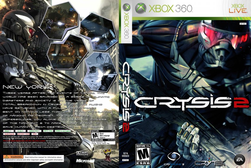 crysis 2 xbox 360 game covers crysis 2 dvd ntsc custom f1 dvd covers. Black Bedroom Furniture Sets. Home Design Ideas