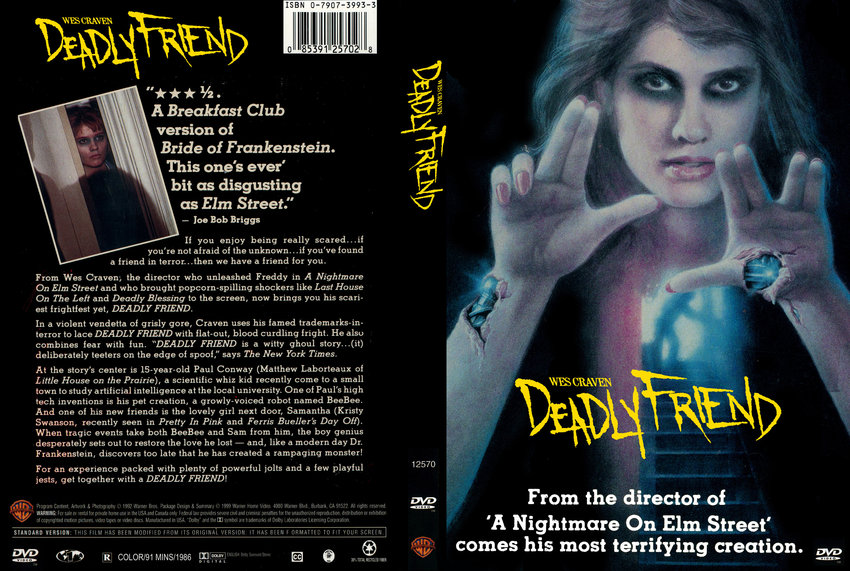 Deadly Friend - Movie DVD Custom Covers - 8781DEADLY FRIENDa :: DVD Covers