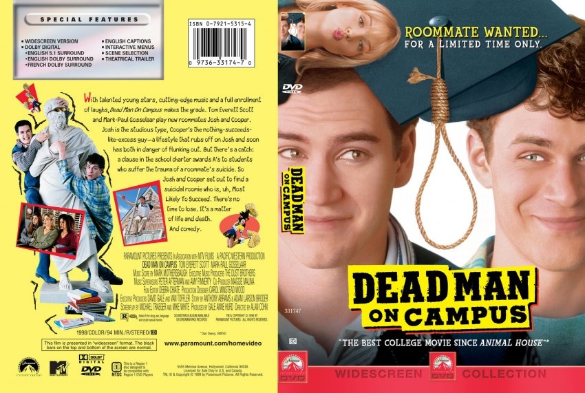 Dead Man on Campus - Movie DVD Custom Covers - 93DMOC DVD ...