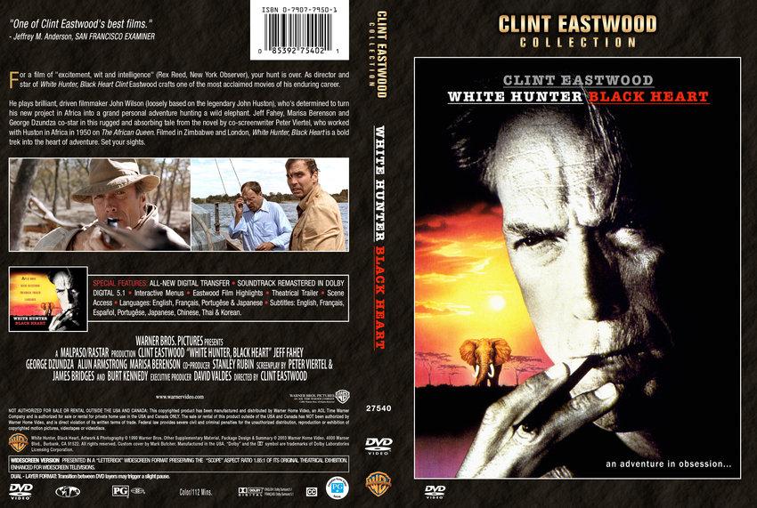 white hunter black heart movie dvd custom covers