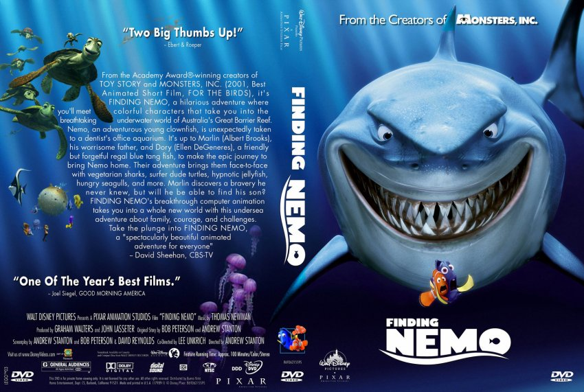 Finding Nemo - Movie DVD Custom Covers - 964disney ...