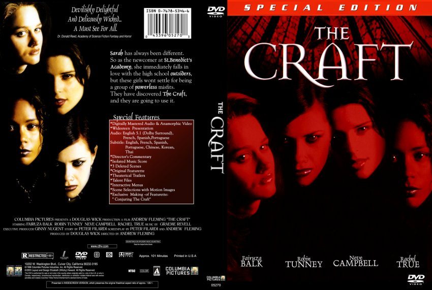 Book Cover Craft Cover : The craft movie dvd custom covers witchy cstm