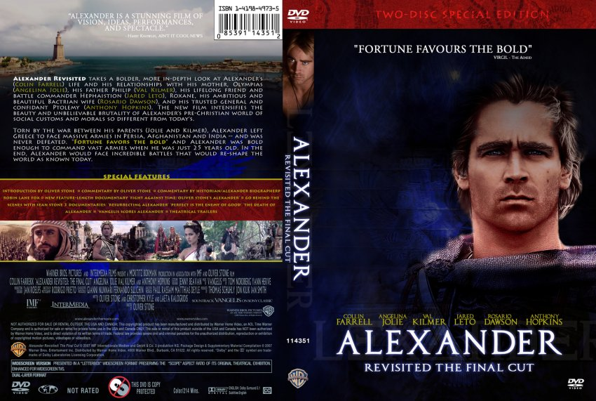 alexander movie dvd custom covers alexander revisited