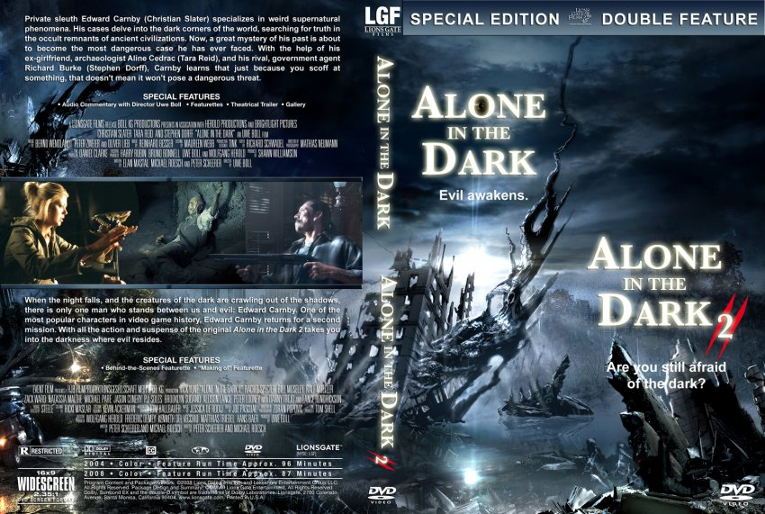 Alone In The Dark Alone In The Dark 2 Movie Dvd Custom Covers