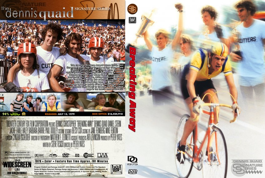 breaking away Breaking away blu-ray (limited edition to 3000 - sold out) (1979): starring dennis christopher, dennis quaid and daniel stern a small-town teen obsessed with the italian cycling team vies for the affections of a college girl.