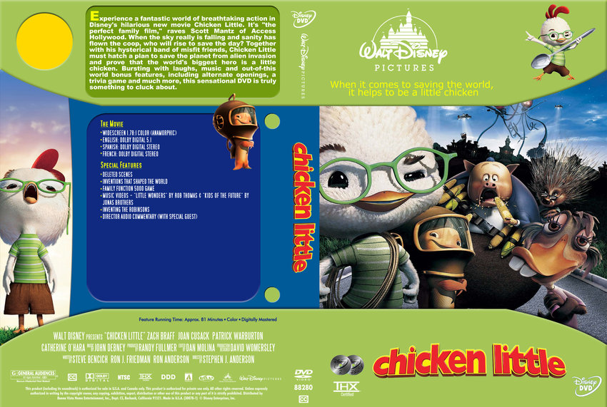 Chicken Little - Movie DVD Custom Covers - Chicken Little ...
