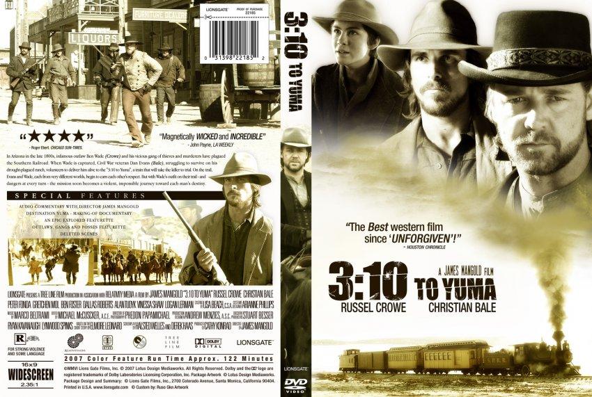 10 to yuma movie dvd custom covers custom 3 10 to yuma dvd