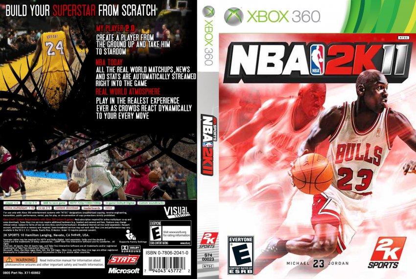 ... Xbox 360 nba 2k11 - xbox 360 game covers - nba 2k11 dvd ntsc custom f Nba 2k14 Custom Covers Xbox