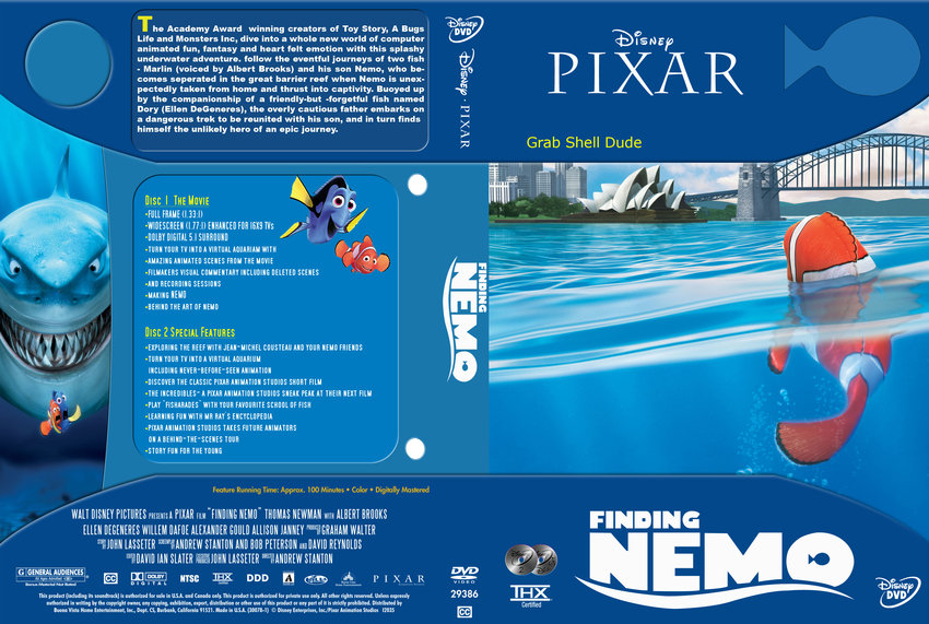 Finding Nemo - Movie DVD Custom Covers - Finding Nemo ...