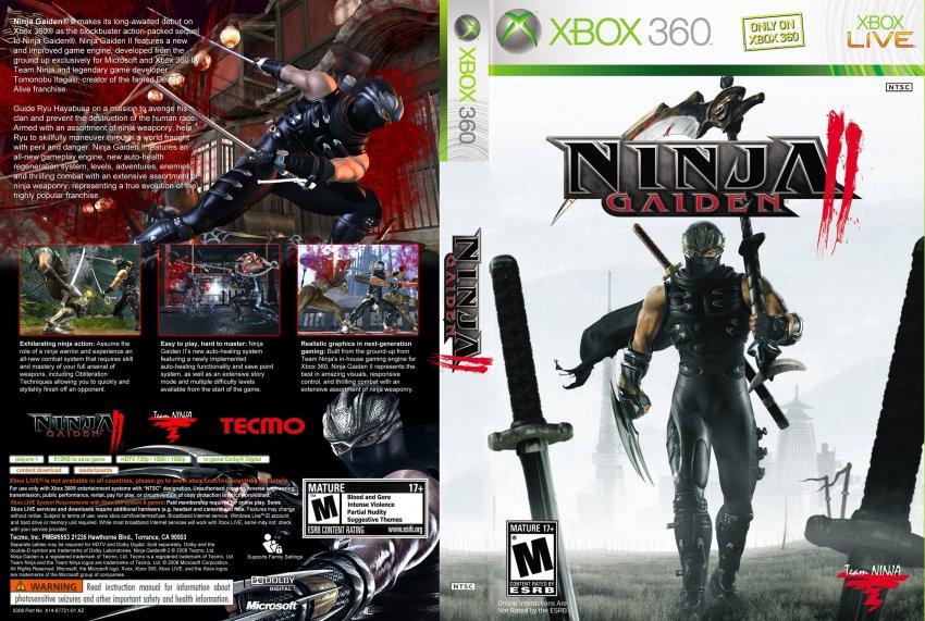 Qual o ultimo jogo que você jogou/está jogando? [Nintendo/PC/Sony/M$] - Página 36 Ninja_Gaiden_2_DVD_NTSC_Custom_f3gojieb