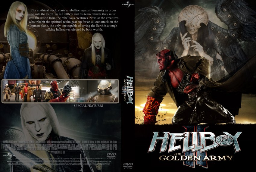 Hellboy 2 the golden army custom dvd cover