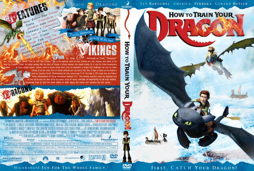 How To Train Your Dragon - Movie DVD Custom Covers - How ...