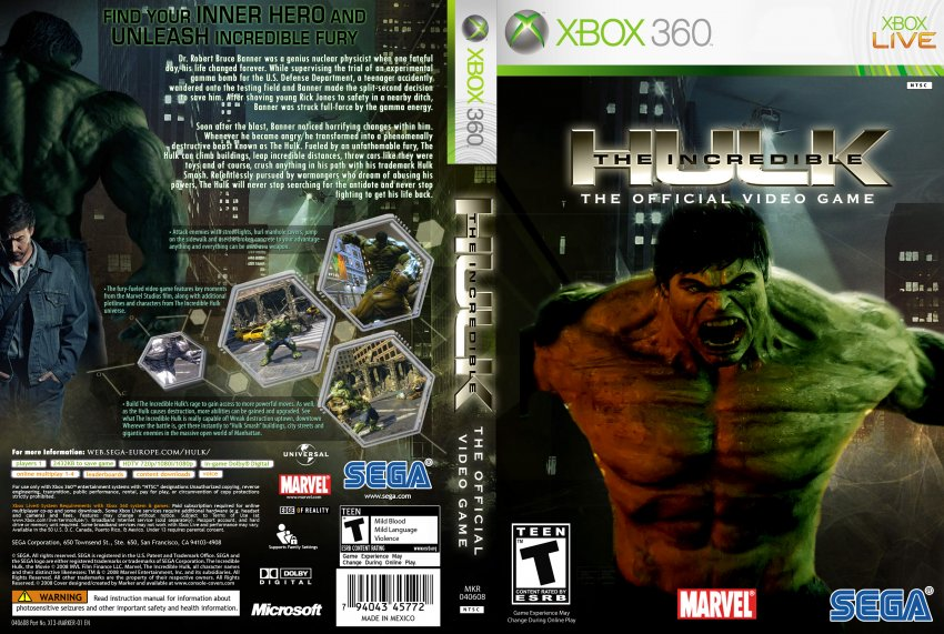 The Incredible Hulk Cheats, Codes, and Secrets for Xbox ...