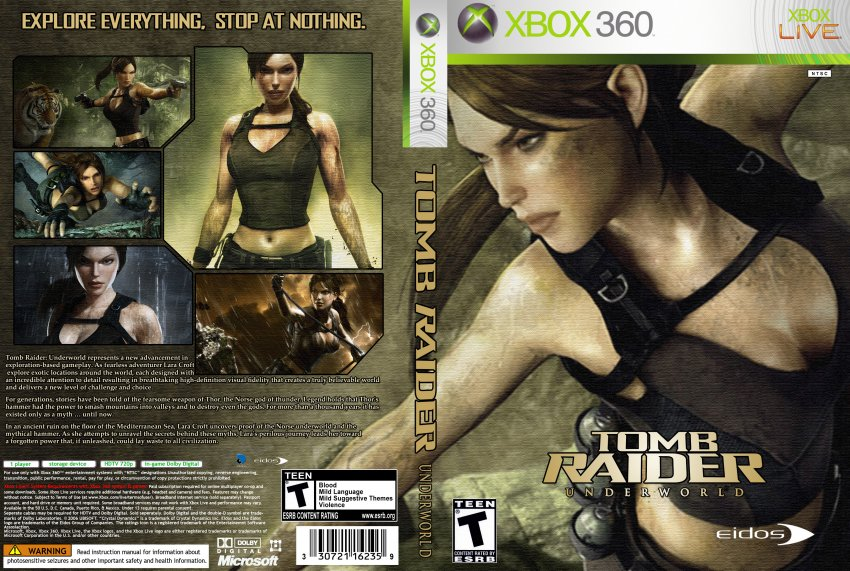 Tomb Raider Game Cover Xbox Tomb raider underworld custom