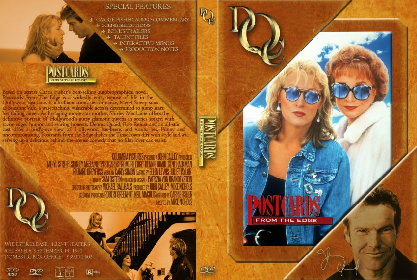 postcards from the edge movie dvd custom covers