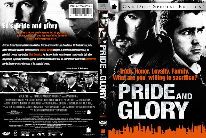 pride and glory movie dvd custom covers pride and glory custom dvd. Black Bedroom Furniture Sets. Home Design Ideas