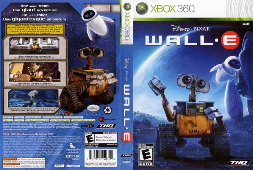 Wall-E - XBOX 360 Game Covers - Wall-E DVD English French ...