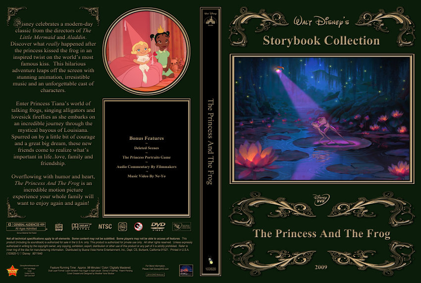 The Princess And The Frog - Movie DVD Custom Covers - Princess :: DVD ...