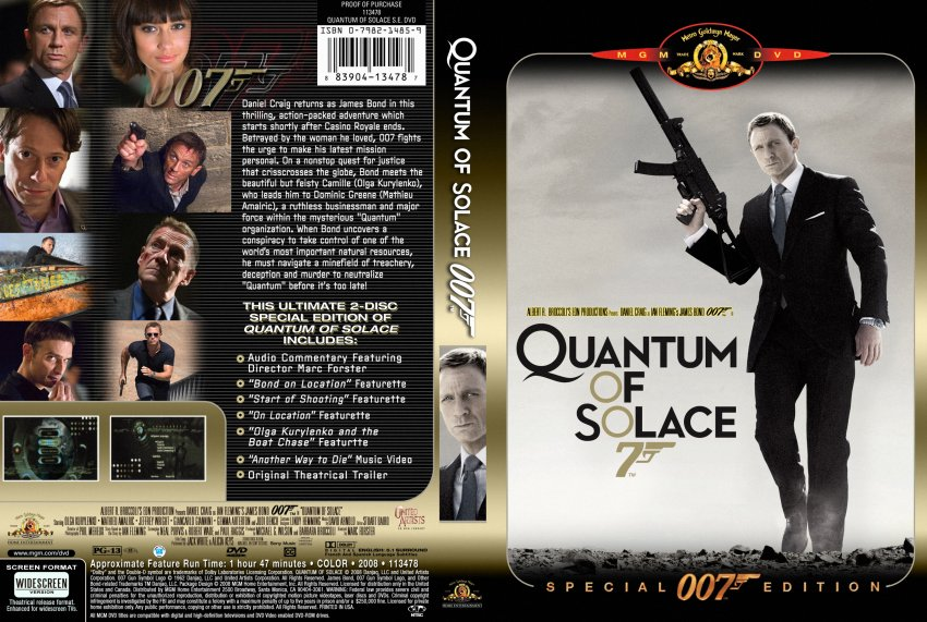 Quantum Of Solace Dvd Cover Art Movie - [007] quantum of solace (2008 ... Quantum Of Solace Cover