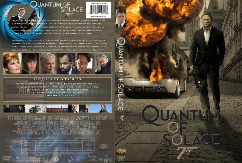 Quantum Of Solace - Mo... Quantum Of Solace Dvd Cover