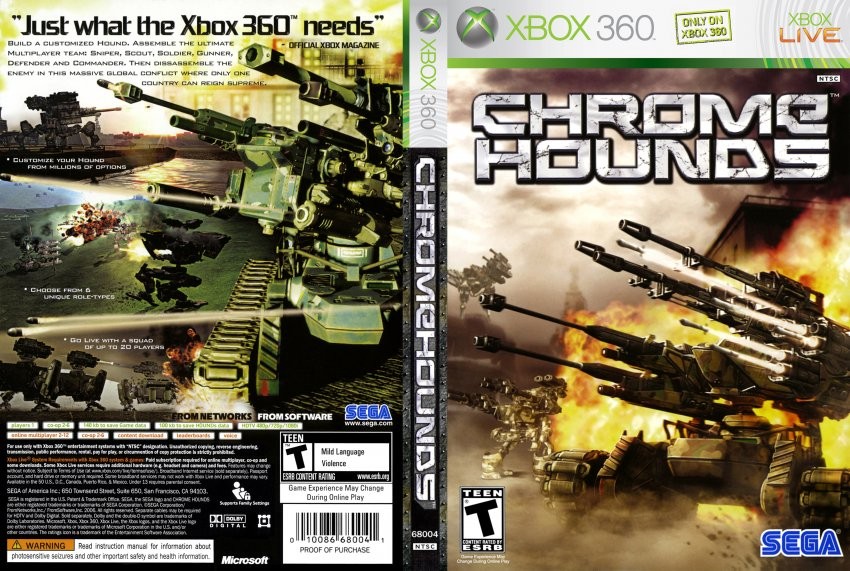 Chromehounds - XBOX 360 Game Covers - chromehounds xbox ...