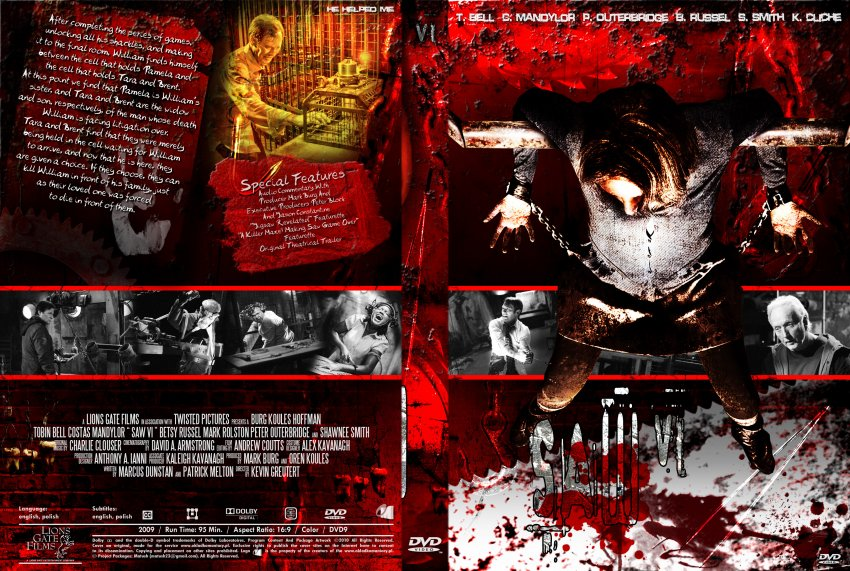 Saw 6 - Movie DVD Custom Covers - Saw 6-by Matush :: DVD Covers
