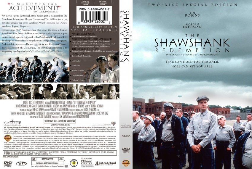 The Shawshank Redemption - Movie DVD Custom Covers ...