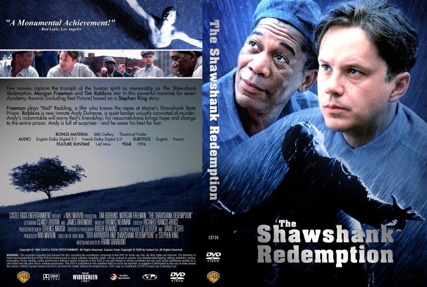 The Shawshank Redemption - Movie DVD Custom Covers ...