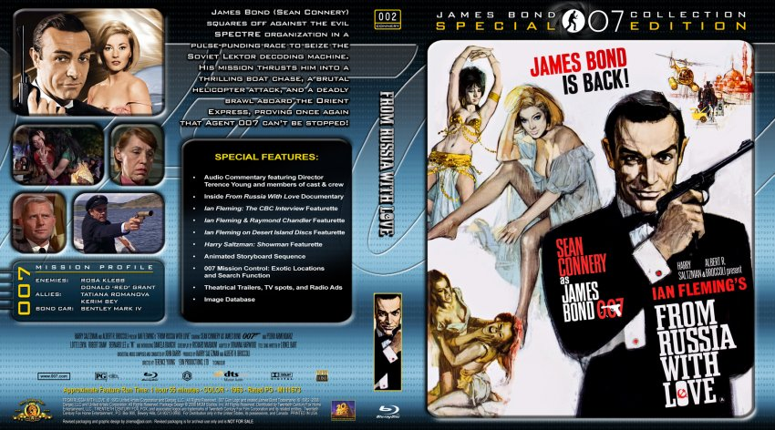 from russia with love movie bluray custom covers 007