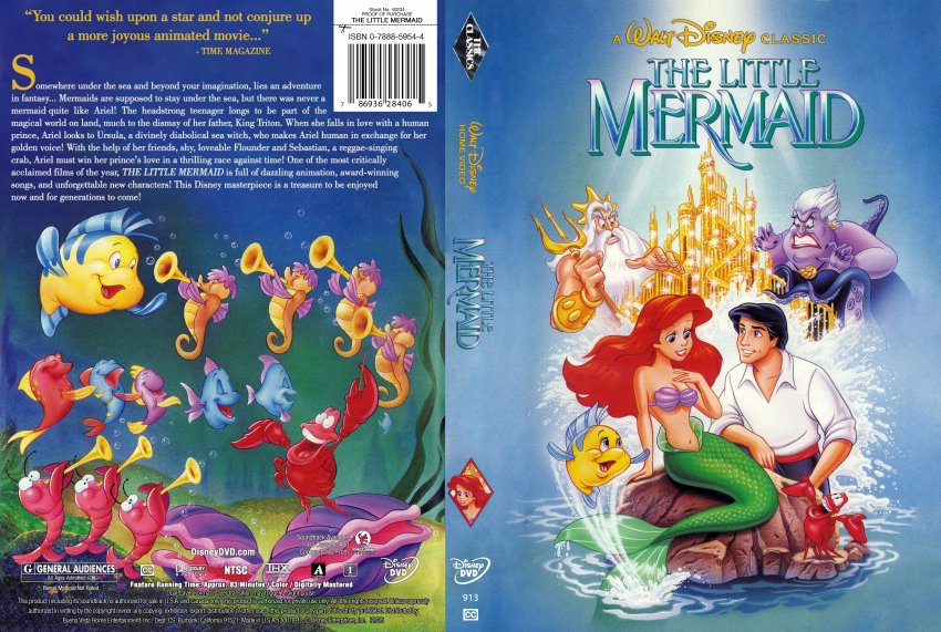The Little Mermaid - Movie DVD Custom Covers - The Little ...
