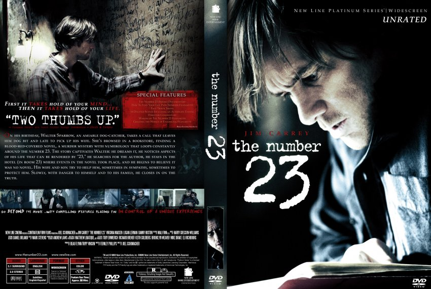 The Number 23 - Movie DVD Custom Covers - The Number 23 :: DVD Covers
