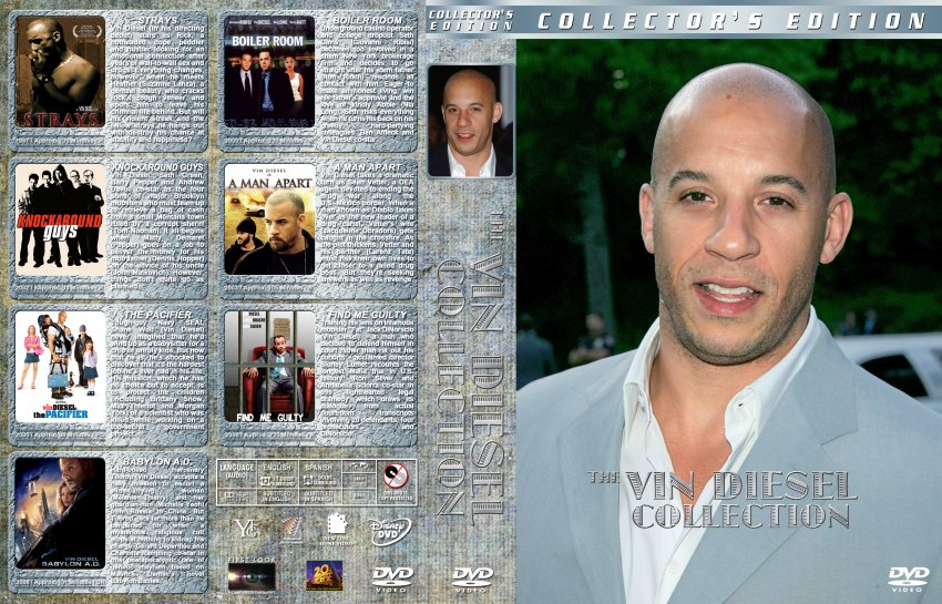 The Vin Diesel Collection - Movie DVD Custom Covers - The ...